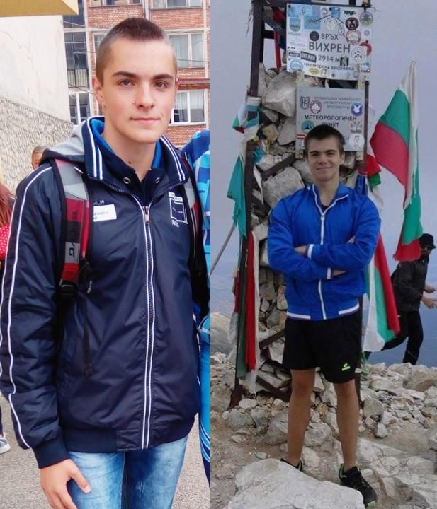 Братята близнаци - Калин (вляво) и Кристин (вдясно)